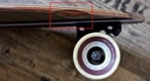 Longboard wheel well