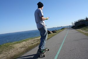 longboard cruising stance