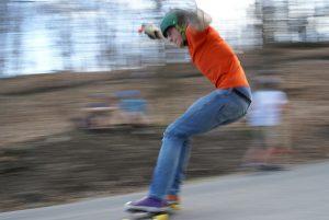 sliding longboarding stance