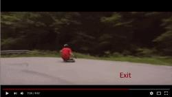 Downhill longboarding exit
