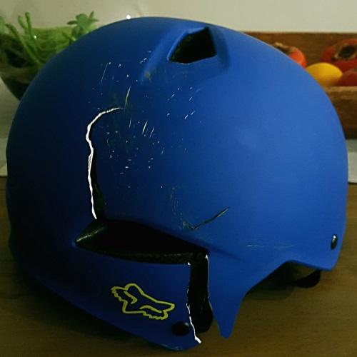 crushed longboard helmet