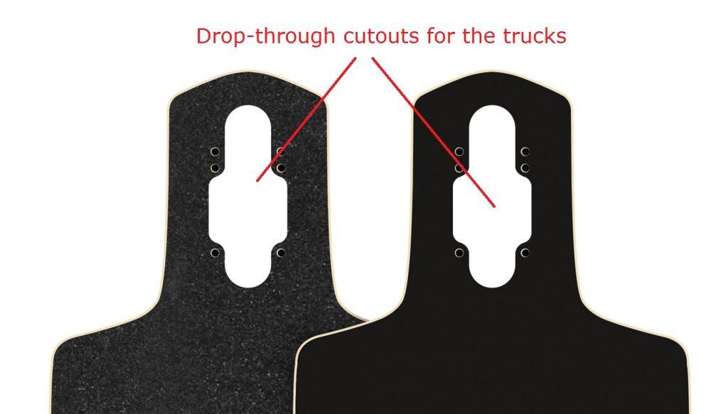 Arbor Dropcruiser drop-through truck cutouts