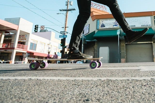 best longboard for commuting - pushing