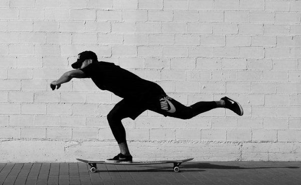 learn to push on your longboard