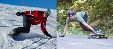 skateboarding vs snowboarding