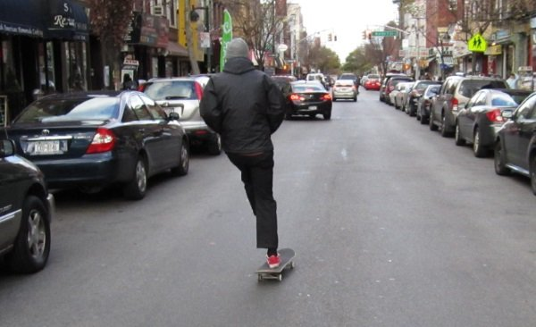 skateboarding to work distance or terrain