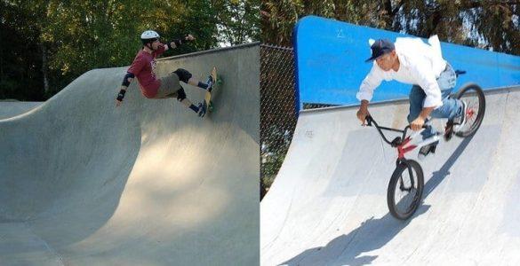 skateboard vs bmx