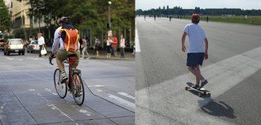 skateboard vs bike