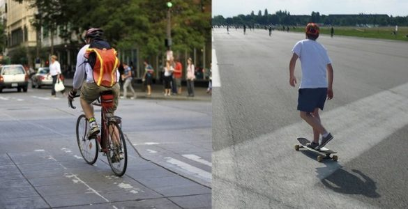 skateboard vs bike