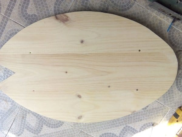 how to make a balance board - sanding