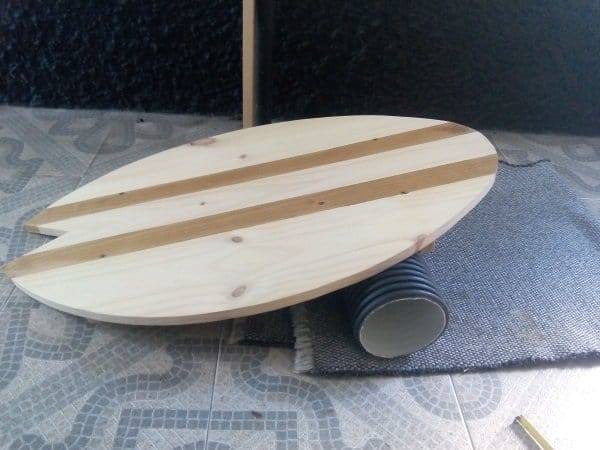 how to make a balance board - finished result