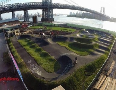 skateboard pump track