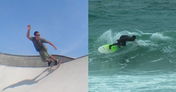 is surfing harder than skateboarding
