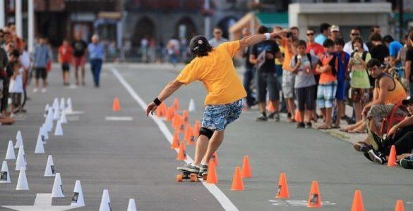 slalom skateboarding