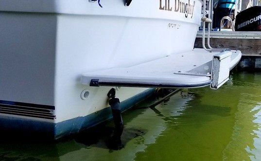 boat swim platform
