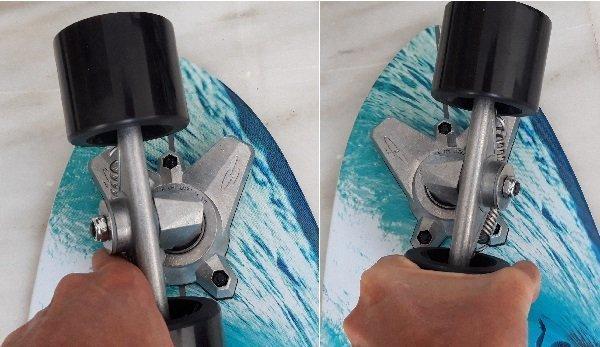 Swelltech surfskate truck system full rotation