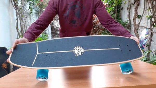Flow surfskate deck top side