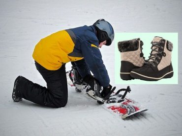snowboarding with regular boots