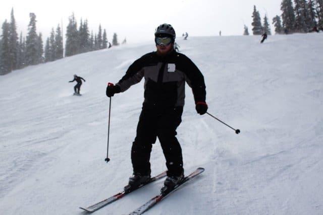snowboarding vs skiing over 40