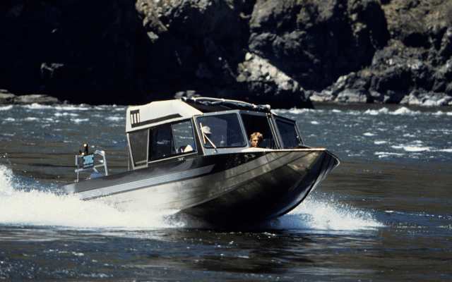 Jet-boat for shallow water
