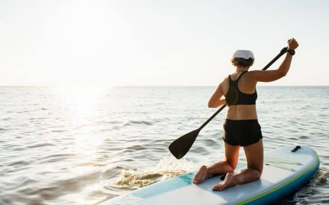 Main challenges of paddle boarding with a bad knee