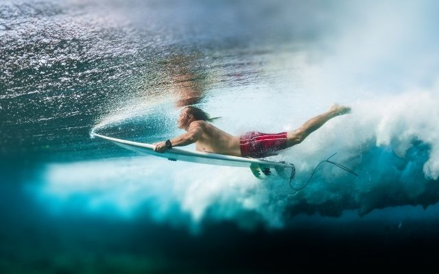 SUP vs surfing difficulty: getting to the lineup